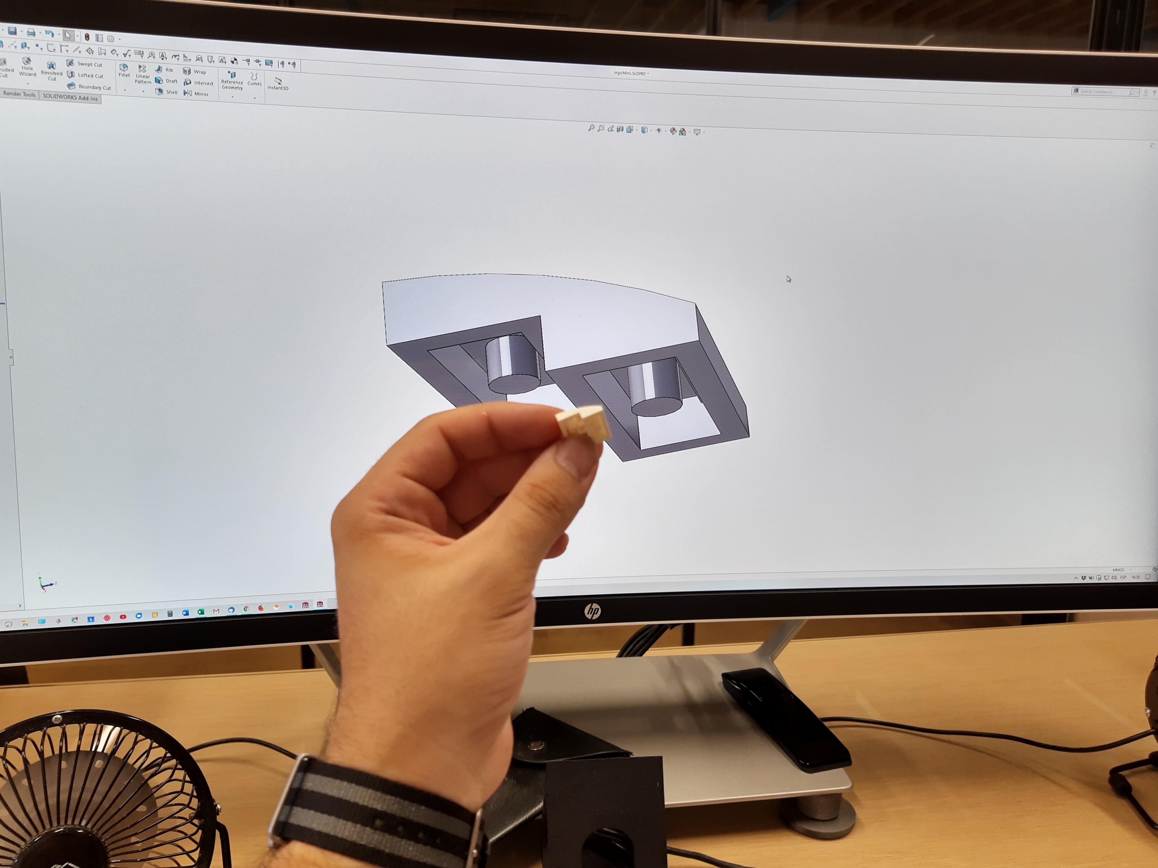 diseño de pieza3D con Solidworks