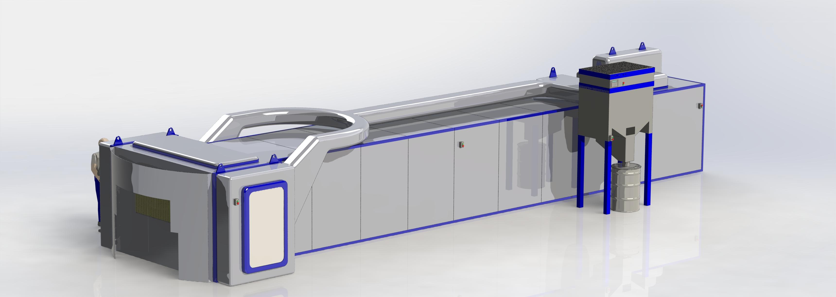 vista máquina de pintura daVINCI de FICEP S3