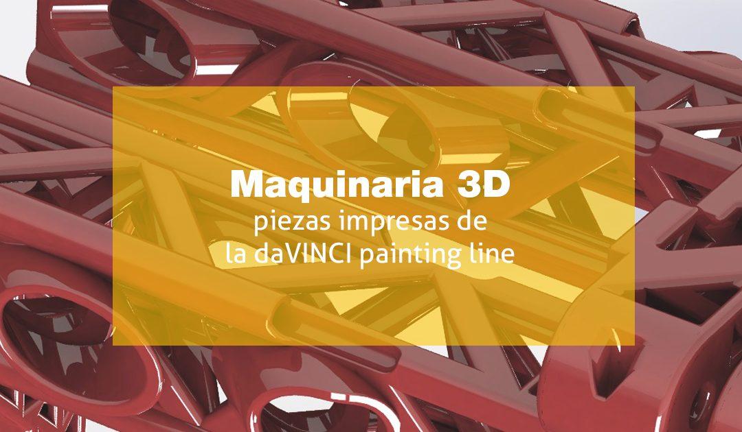 Maquinària 3D: peces impreses daVINCI painting line
