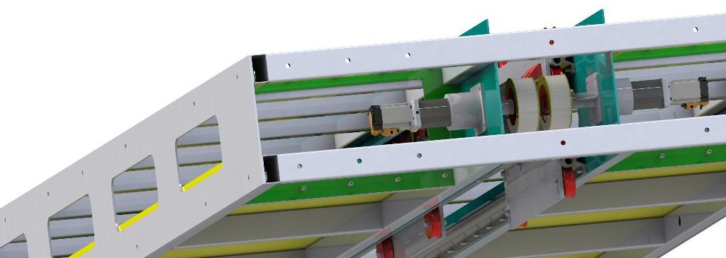 Detalle del soporte del motor de la máquina de pintura daVINCI de FICEP S3