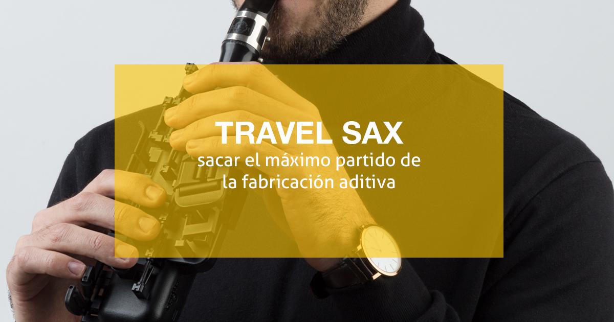 Travel sax es el nuevo saxofón de viaje hecho a partir de la fabricación aditiva